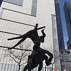 Sculpture, Columbus Circle, New York City by lenspiro