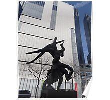Sculpture, Columbus Circle, New York City Poster