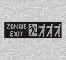 ZOMBIE EXIT SIGN by Zombie Ghetto One Piece - Short Sleeve