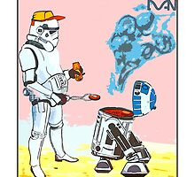 Star Wars BBQ- a piece of street art in Bristol by Dan by TimConstable