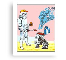 Star Wars BBQ- a piece of street art in Bristol by Dan Canvas Print