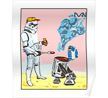 Star Wars BBQ- a piece of street art in Bristol by Dan Poster