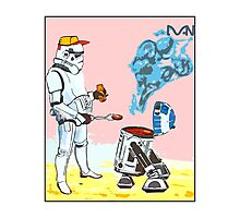Star Wars BBQ- a piece of street art in Bristol by Dan Photographic Print