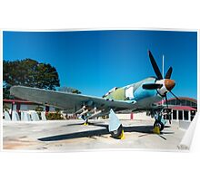 Bristol Centaurus Powered Hawker Sea Fury, Giron Cuba 2014 Poster