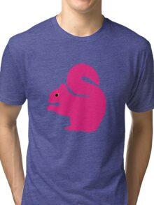Big Pink Squirrel Tri-blend T-Shirt