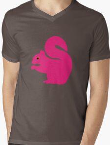 Big Pink Squirrel Mens V-Neck T-Shirt
