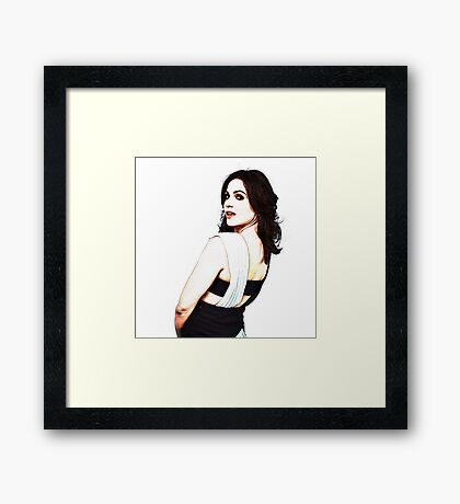 Lana Parrilla - Once Upon a Time Framed Print