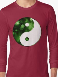 Yin Yang Weed Long Sleeve T-Shirt