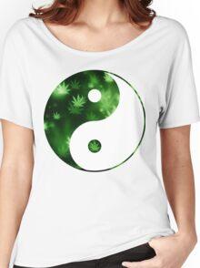 Yin Yang Weed Women's Relaxed Fit T-Shirt