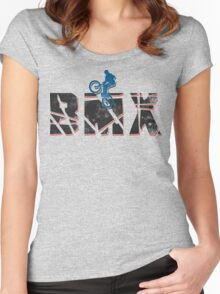 Bike Cycling Bicycle BMX Women's Fitted Scoop T-Shirt