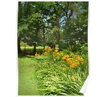 Summer Flower Garden Poster