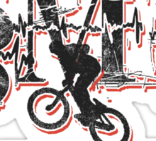 BMX Keeps My Heart Beating Sticker