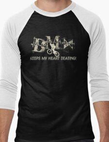 BMX Keeps My Heart Beating Men's Baseball ¾ T-Shirt