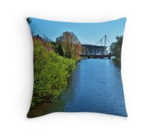 River Taff & Millennium Stadium, Cardiff Throw Pillow