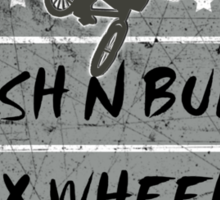 BMX Crash and Burn Sticker