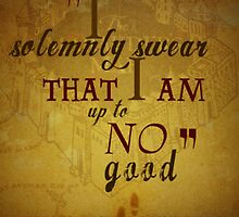 Harry potter I solemnly swear that I am up to no good poster  by ejgdrd