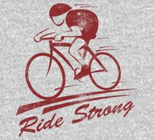 Bike Cycling Ride Strong by SportsT-Shirts