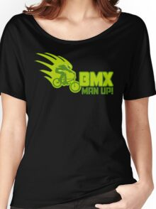 BMX Man Up Bike Cycling Bicycle  Women's Relaxed Fit T-Shirt