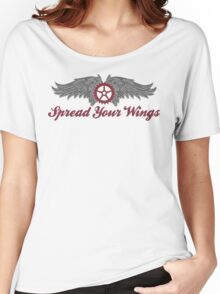 Bike Cycling Spread Your Wings Women's Relaxed Fit T-Shirt