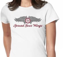 Bike Cycling Spread Your Wings Womens Fitted T-Shirt