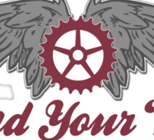 Bike Cycling Spread Your Wings Sticker