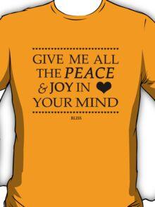 Muse Bliss Lyrics Design  T-Shirt