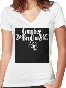 coughee brothaz Women's Fitted V-Neck T-Shirt