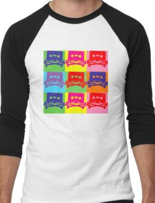 Pop Art Tape and Bones Men's Baseball ¾ T-Shirt