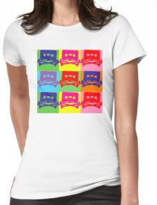 Pop Art Tape and Bones Womens Fitted T-Shirt