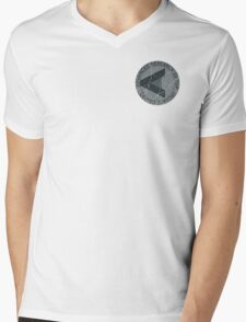 Arrow - ARGUS emblem distressed Mens V-Neck T-Shirt