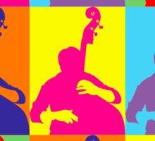 Pop Art Acoustic Bass Player Sticker