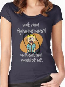Who's Flying This Thing?! Women's Fitted Scoop T-Shirt