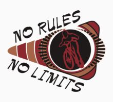 Bike Cycling No Rules No Limits by SportsT-Shirts