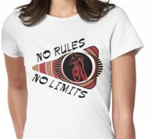 Bike Cycling No Rules No Limits Womens Fitted T-Shirt
