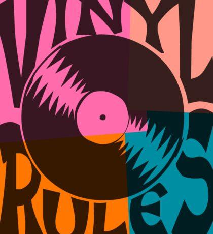 Vinyl Records Rule Pop Art Sticker