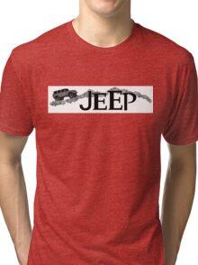 Jeep rock trail adventure design Tri-blend T-Shirt