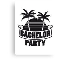 Palms Holiday bachelor party Canvas Print