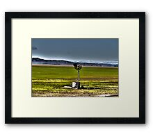 Lake George Windmill HDR Framed Print