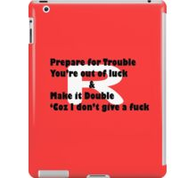 Double Trouble Honesty iPad Case/Skin