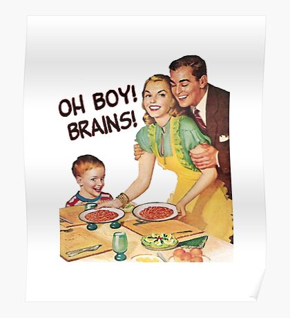 Oh Boy! Brains! Poster