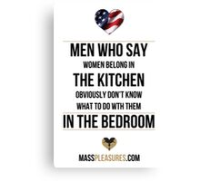 Men In The Bedroom USA Canvas Print