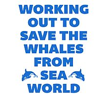 Working Out to Save the Whales Photographic Print