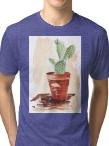 Bunny Ears Cactus (Opuntia microdasys) Tri-blend T-Shirt