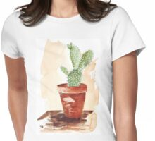 Bunny Ears Cactus (Opuntia microdasys) Womens Fitted T-Shirt
