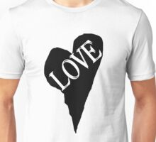 "HEART LOVE ""Double Vision"" (Black Fill) Unisex T-Shirt"