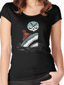 The Hockey Shark Women's Fitted Scoop T-Shirt