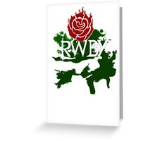 RWBY rose Greeting Card