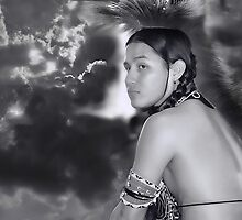 Young Native American by Dyle Warren