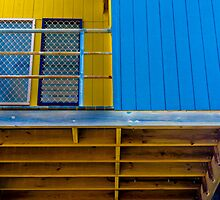 Yellow And Blue. by Raymond J. Marcon