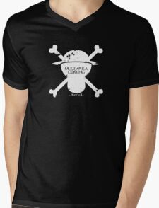 Mugiwara Is Coming Mens V-Neck T-Shirt